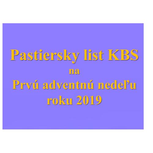 Pastiersky list KBS na Prvú adventnú nedeľu   2019