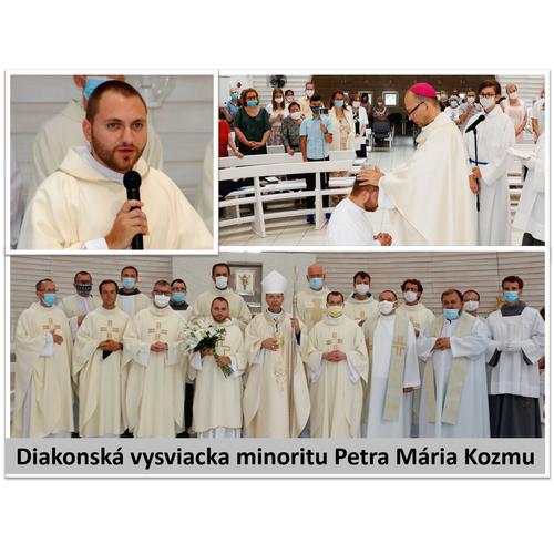 Diakonská vysviacka minoritu Petra Mária Kozmu