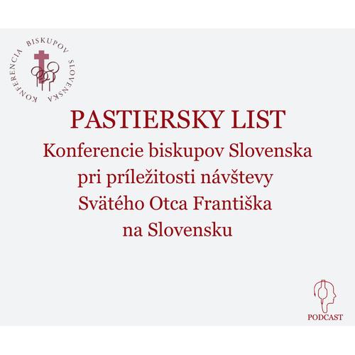 PASTIERSKY LIST Konferencie biskupov Slovenska pri príležitosti návštevy  Svätého Otca Františka  na Slovensku