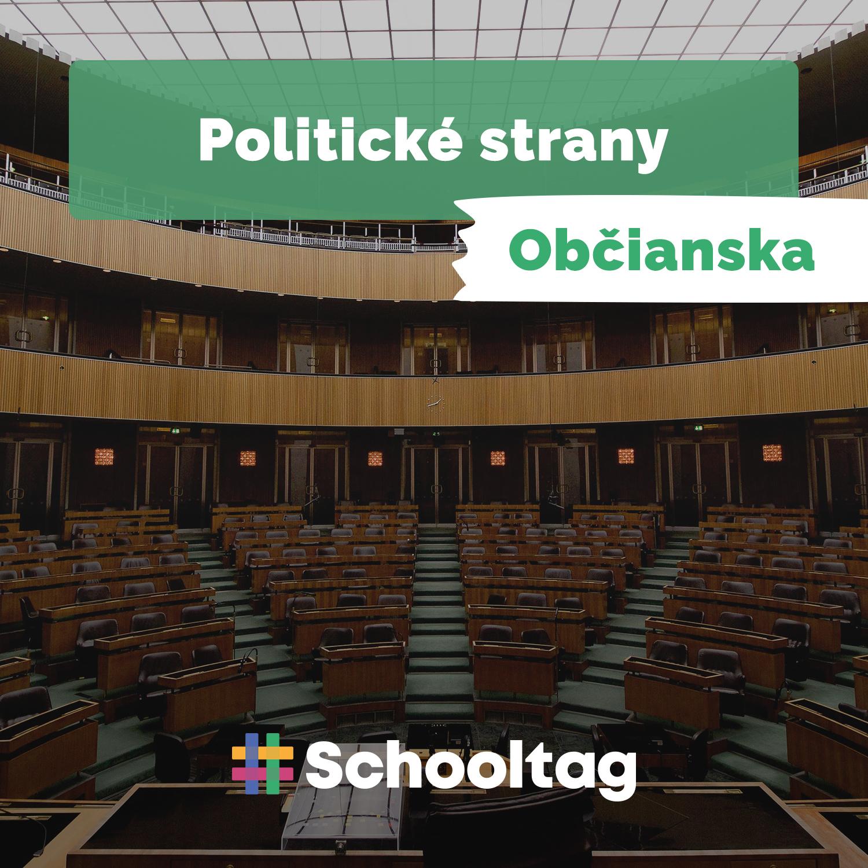 #Politológia: Politické strany (občianska náuka)