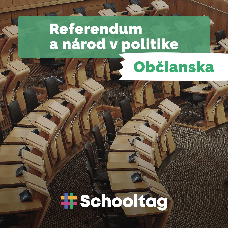 #Politológia: Referendum a národ v politike  (občianska náuka)
