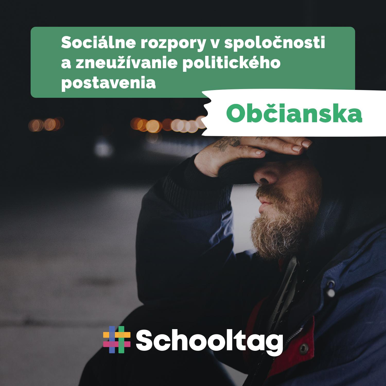 #Politológia: Sociálne rozpory v spoločnosti a zneužívanie politického postavenia (občianska náuka)